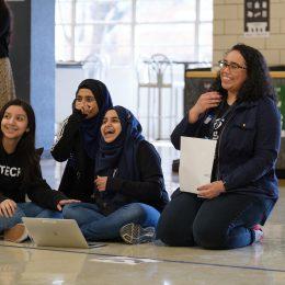 High school students design thinking
